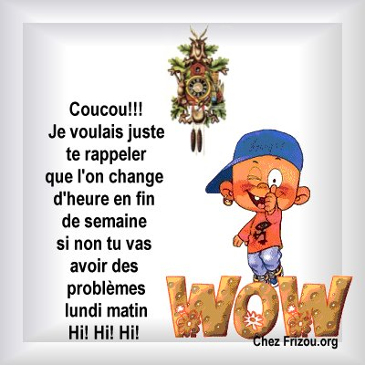 Gifs Changement D Heure Page 1 Gifs Gratuits Pjc