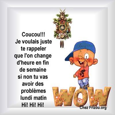 Changement d 39 heure le blog de jojo - Changement d heure 2015 ...
